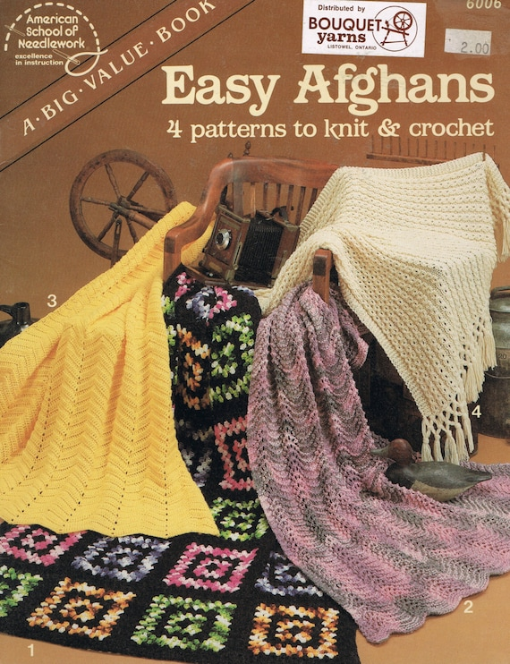 Easy Afghans To Knit And Crochet Easy Afghan Crochet Pattern
