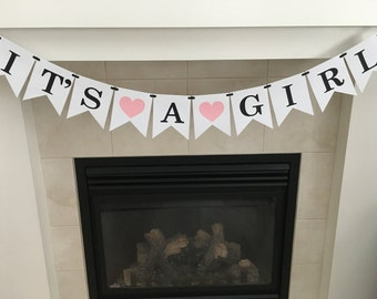 It's a Girl, Girl Baby Shower, Baby Shower Banner, Baby Shower Decorations, Nursery, New Baby, Baby Sprinkle, Photo Prop