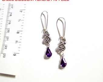 Dangle Earrings, Delicate, Tiny Swarovski Crystal Tear Drop Earrings, Available in 6 Colors, Select Ear Wires