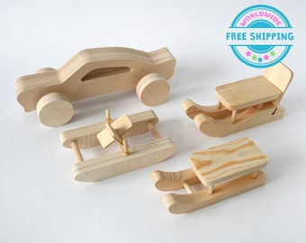 Wooden handmade building constructor / Wooden toys / Eco friendly toys / Natural wood toys / Nursery decor