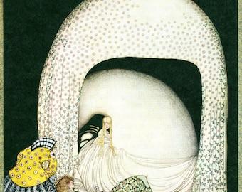 Kay Nielsen ART DECO Nouveau PRINT Original Vintage 1979 from East of the Sun