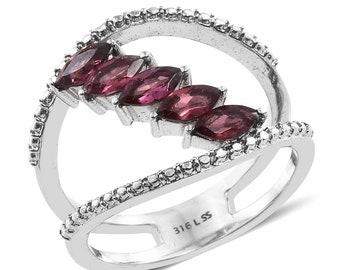 Orissa Rhodolite Garnet ring