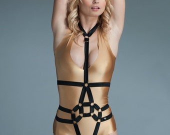 Body Harness - Body Harness Lingerie - Plus Size Harness Outfit