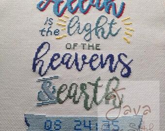 Quran Surah An Nuur 35 Islamic Cross Stitch PDF Pattern