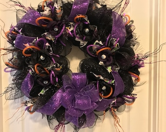 Halloweeen Wreath, Door Wreath, Decorative Wreath, Front Door Wreath