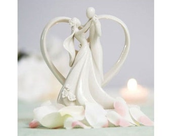 Heart Bride and Groom Wedding Cake Topper Baking Supplies