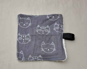 Cloth washable reusable pattern cats