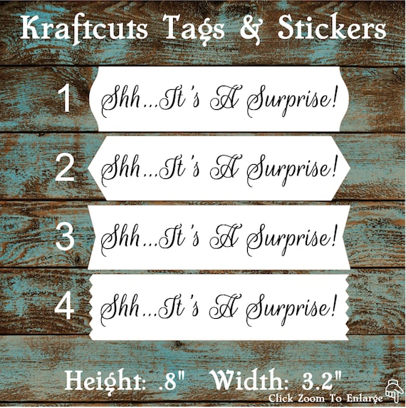 Envelope Seals / Stickers - It's a Surprise # 733 Qty: 40 Stickers