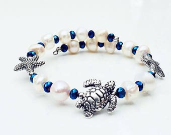 Beach Sea Turtle Starfish Bracelet