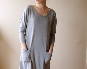 Sample SALE T Shirt Dress Long Sleeve Small