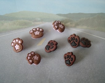 Dog Paw Novelty Buttons