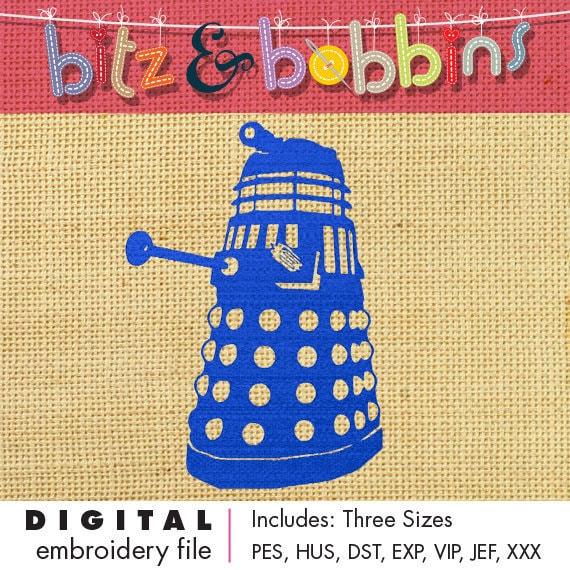 Doctor Who Dalek Digital Embroidery Design