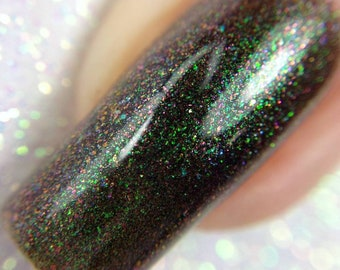 Schism of a Prism - June 2018 OOAK of the Month - Multichrome Green and Red Unicorn Pee Indie Nail Polish