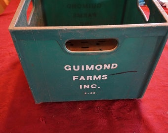Vintage Guimond Farms Inc Milk Crate 1960-1970's