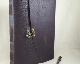 The Novelist -- Made to Order Extra Large Leather book with Lined Pages