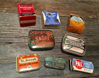 Assortment of Advertising Tins / Boxes / Cans