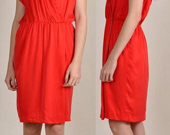 stunning red vintage CHLOE wrap-style dress Lagerfeld       H8
