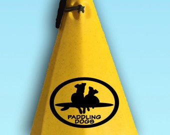 Best of Friends Paddlers Dog Vinyl SUP Kayak Canoe Car Sticker Decal Original Design by Paddling Dogs Min Pin