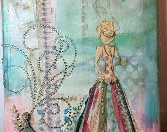 Julie Nutting 8x10 collage wall hanging