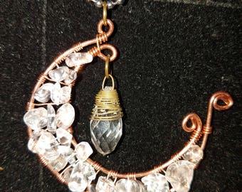 Quartz Moon Necklace