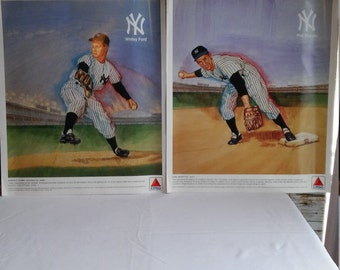 Vintage 1989 Advertising for 6 New York Yankee Greats and Citgo Petroleum Corporation by Rodgers Litho, Tulsa, OK.