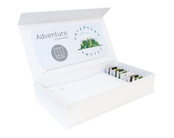 Adventure Cross Stitch Kit - Stitchering Box - Organized Materials of Premium Quality - Perfect for Beginners and Experienced Craftiers