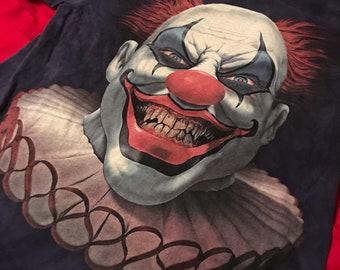 Vintage scary clown shirt