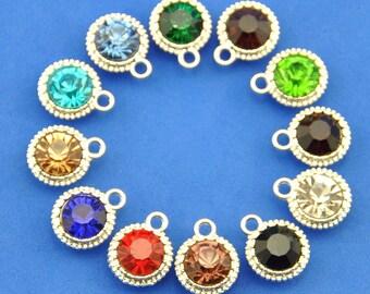 Crystal Drop Birthstone Charm Add On/Swarovski Crystal Birthstone Pendant/Personalized Charm/gemstone charm-small birthstone pendant-G1881-1