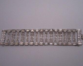 1959s Wide Rhinestone Bracelet