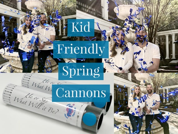 SPRING CONFETTI CANNON that are Kid Friendly! Gender Reveal Ideas Confetti Cannons Powder Cannon