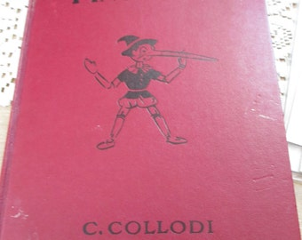 Vintage 1940 Pinocciho Book by C. COllodi - estate find!