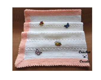 Criss Cross Blanket Baby Crochet Pattern (DOWNLOAD) CNC27