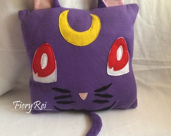 Pillow inspired by Sailor Moon Luna Plush Pillow Decorative Pillow