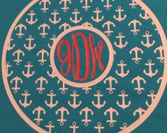 Monogrammed Anchor or Seahorse Shirt