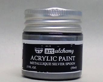 Art Alchemy-Acrylic Paint-Metallique Silver Spoon 1.7oz (50ml)
