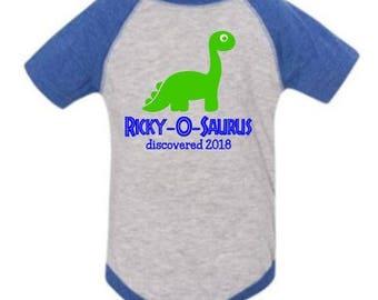 Name-o-saurus Dinosaur Shirt/Bodysuit for Infant and Kids