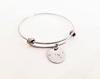 Zodiac bracelet - bangle - Capricorn - Aquarius - Pisces - Aries - Taurus - Gemini - Cancer - Leo - Virgo - Libra - Scorpio - Sagittarius