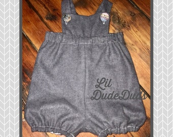 Baby Boy Romper/ Lil DudeDuds/ Boys Fashion