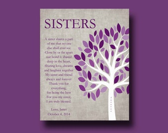 SISTERS gift print - Personalized gift for your Sister - Wedding Gift for Sister, Gift for Sister, Maid of Honor, Sister Birthday Gift