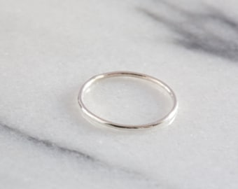 Sterling Silver Stacking Ring | Sterling Silver Ring | Minimalist Ring | Minimal Ring | Silver Stacking Rings | Dainty Ring | Delicate Ring