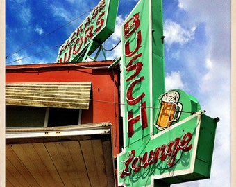 "Busch Lounge Sign St. Petersburg, Florida Photo Print - 8"" x 8"""
