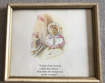 Framed Beatrix Potter Print
