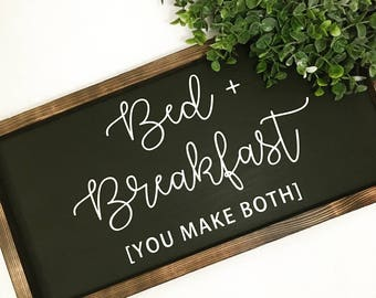 Bed and breakfast painted solid wood sign