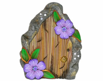 Fairy Door, Purple Flower Fairy Door, Fairy Garden, Fairy Decor, Mothers Day, Teacher Gift