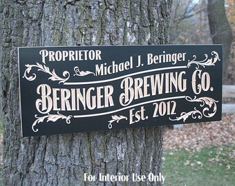 Beer Sign, Custom Beer Sign, Custom Bar Sign, Custom Bar Signs, Craft Beer Sign, Rustic Man Cave Sign, Benchmark Signs, Maple NC2