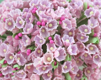 Forget Me Not Pink Lilac Flower Bouquet