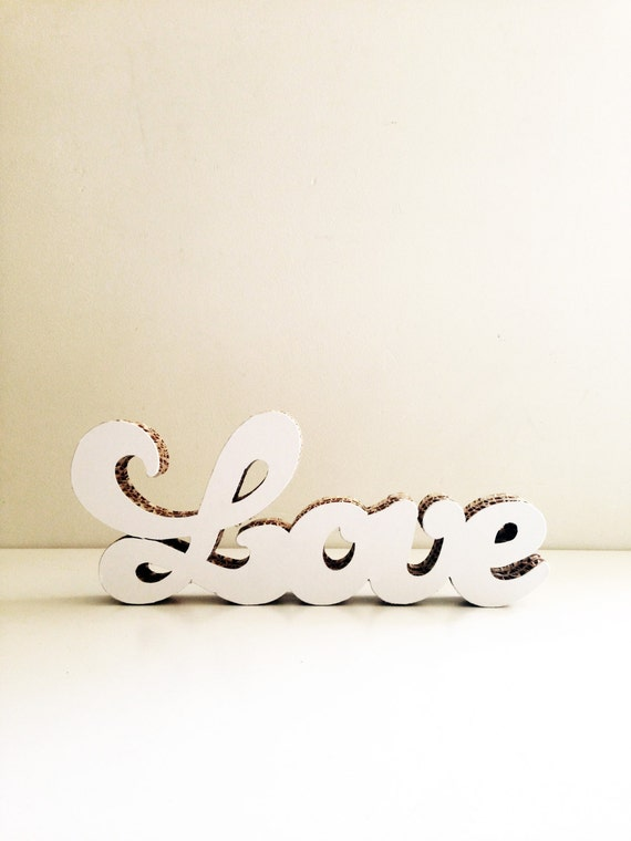 Valentines Day decor, LOVE calligraphy sign