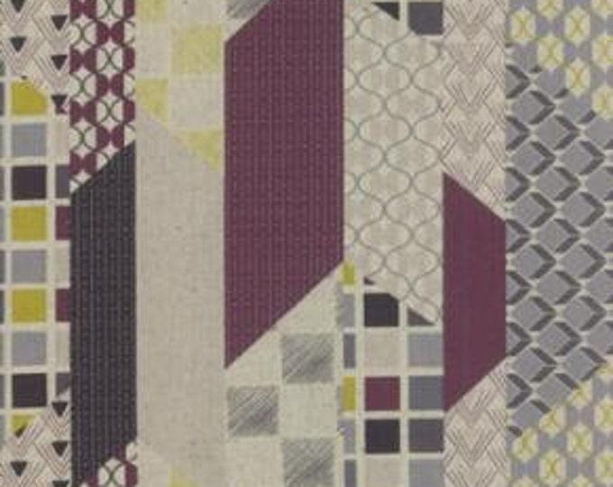 Chic Neutrals Geometric Cheater Linen Blend - 1/2yd