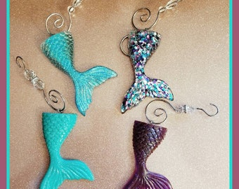 Mermaid Tail Christmas Ornaments
