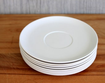 white melamine saucers // laguna melmac, california // set of 8